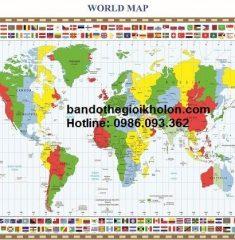Bản đồ thế giới khổ lớn mẫu 33