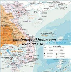Bản đồ Việt Nam khổ lớn mẫu 11