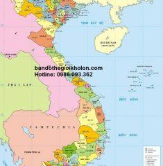 Bản đồ Việt Nam khổ lớn mẫu 4